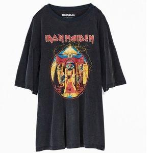 NWT UO Iron Maiden Graphic T-Shirt Sz M/L